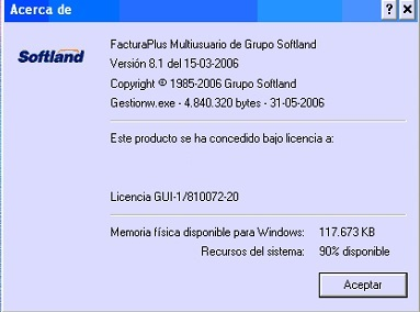 Acercade FacturaPlus 8.1